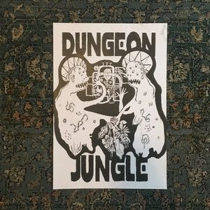 Poster Black and white Jungle
